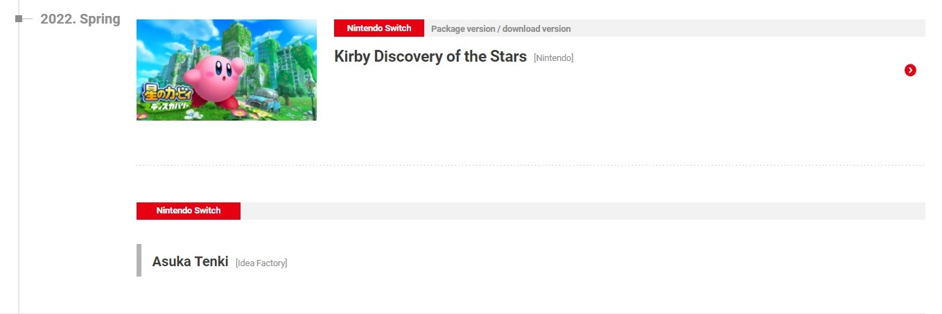 kirby discovery of the stars dropping